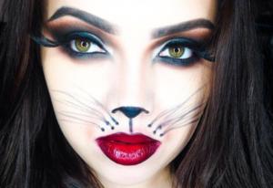 Halloween cat face makeup