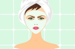 facial exfoliating skin care mask