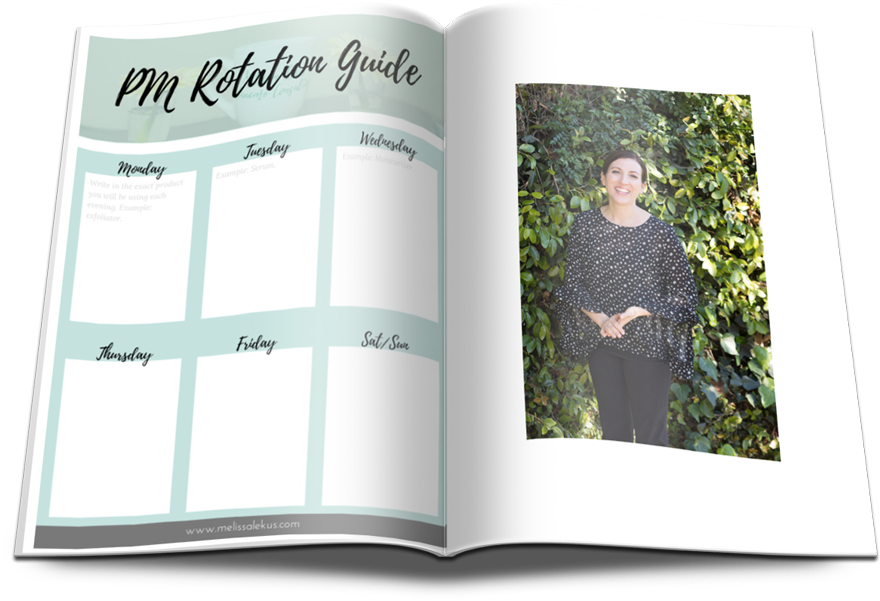 PM Product Rotation Guide by Melissa Lekus Skincare Consulting